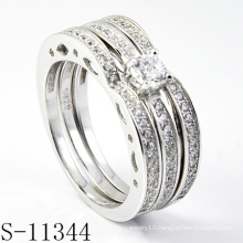 Unique 925 Silver Jewelry Combination Zirconia Ring (S-11344)